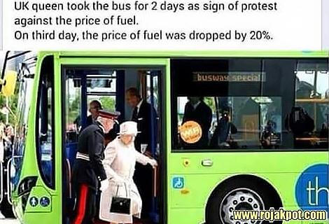 The Queen Elizabeth Bus Ride To Protest Fuel Price Hoax!