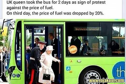 The Queen Elizabeth Bus Ride To Protest Fuel Price Hoax!