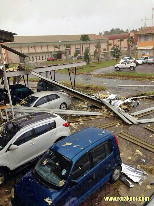 The destruction caused by the thunderstorm on the 11th of August 2015