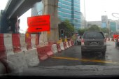 New Contraflow Lane @ Mutiara Damansara
