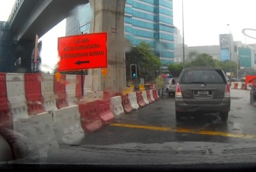 New Contraflow Lane @ Mutiara Damansara