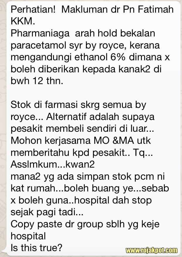Viral warning about Royce Pharma paracetamol syrup
