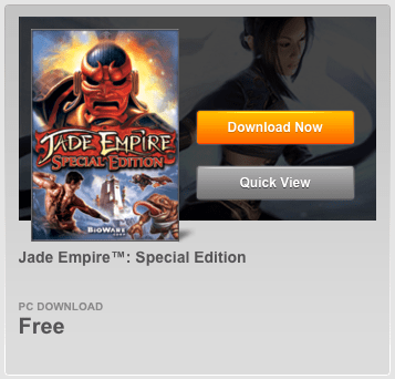 Jade Empire Special Edition Is Now FREE!