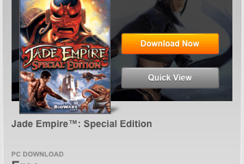 Jade Empire Special Edition Is FREE Again!