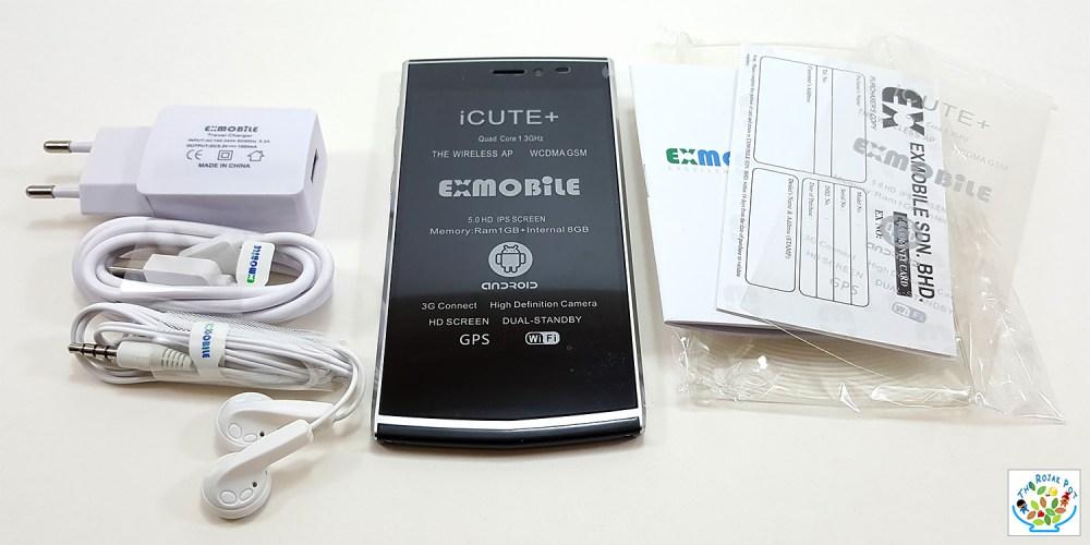 EXMobile iCute Plus Smartphone box contents