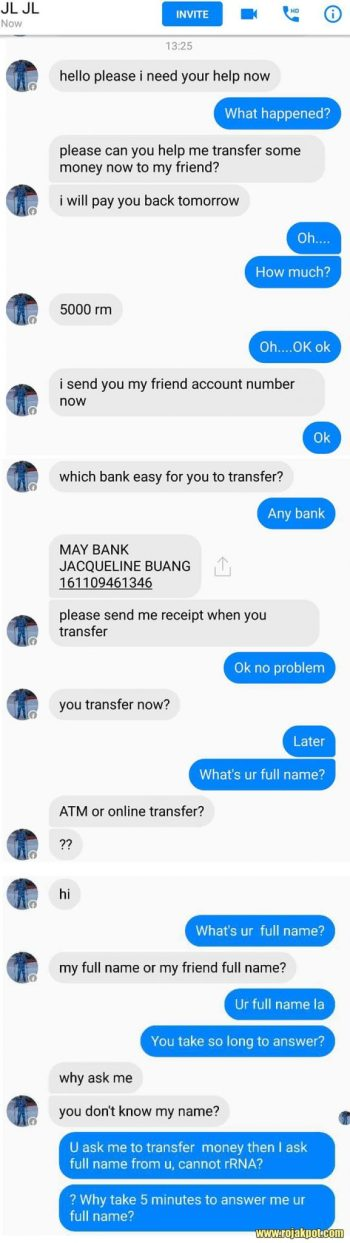 Facebook Scam : Friends Asking To Borrow Money