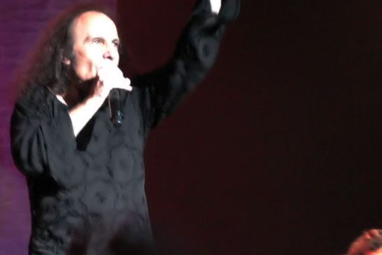 Ronnie James Dio showing sign of the horns | Credit : rjforster from Worcester, UK