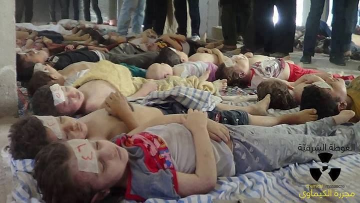 Children killed in the Ghouta chemical attack