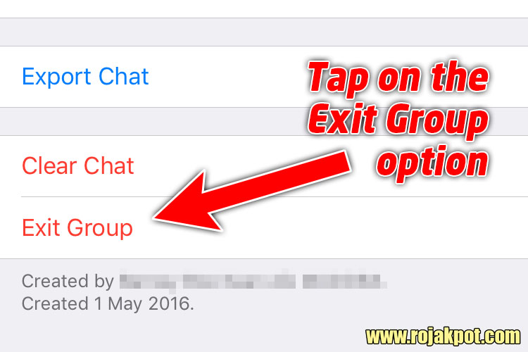 How to exit a WhatsApp group