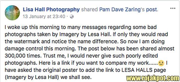 Lisa Hall Photography FB post