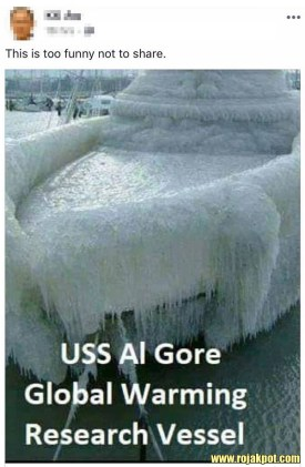 The USS Al Gore Frozen Boat Hoax