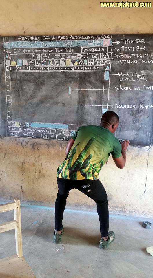 Owura Kwadwo Taught His Students Microsoft Word By Drawing It!