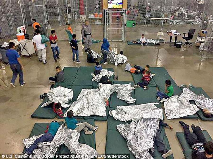 Trump McAllen children detention facility, June 18 2018