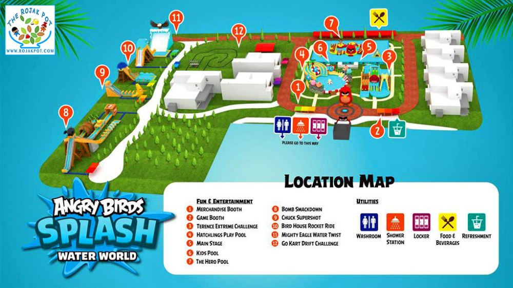 Angry Birds Splash Water World Semenyih map