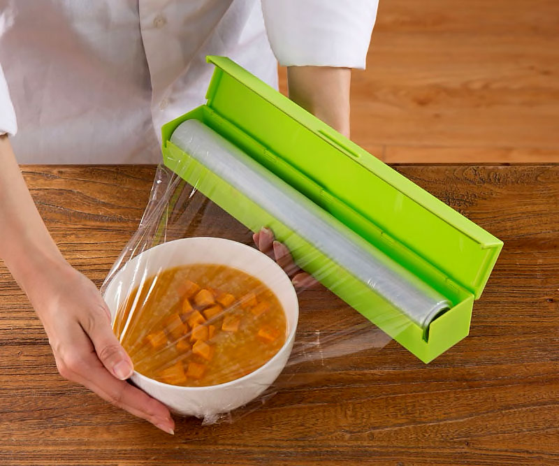Plastic wrap microwave food