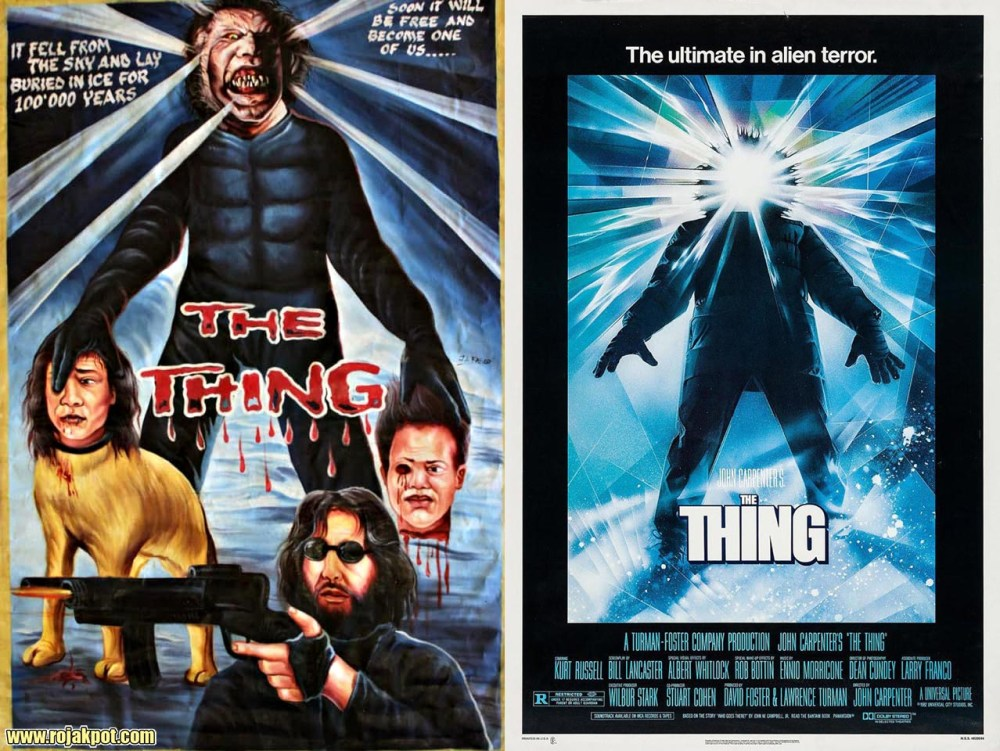 The Thing - Ghana movie poster compared