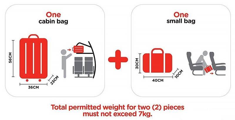AirAsia luggage limits