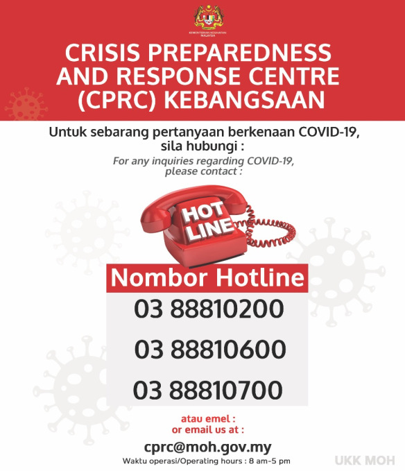 MOH COVID-19 Hotline Numbers