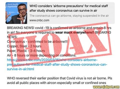 CNBC COVID-19 airborne hoax