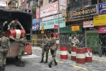 Military Cordons Off Jalan Masjid India Under Enhanced MCO!