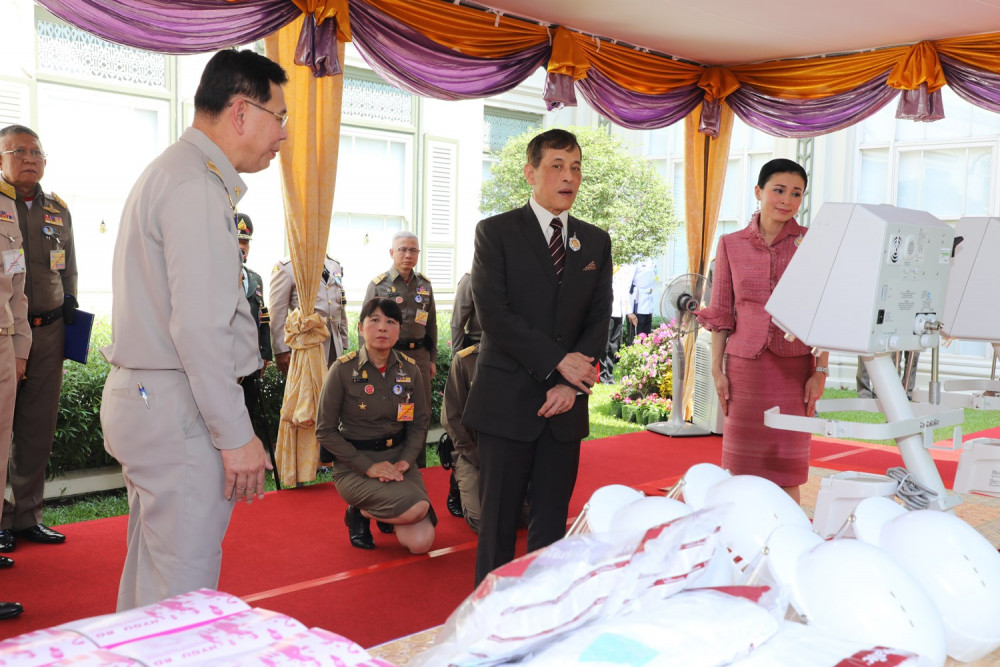 PostToday Thai King Maha Vajiralongkorn in Bangkok on 6 April 2020