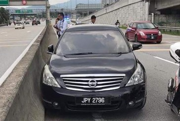Watch : Malaysian Police Fired TWICE To Disable Car!