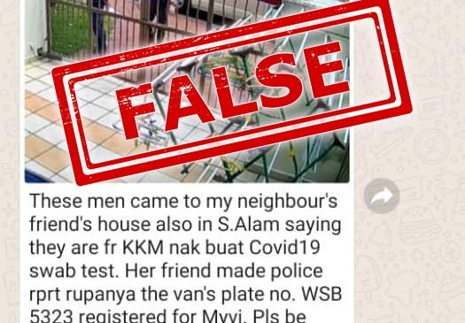 Robbers Posing As KKM Officers Testing For COVID-19?