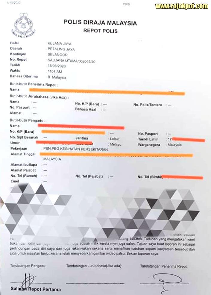 Fake KKM van police report