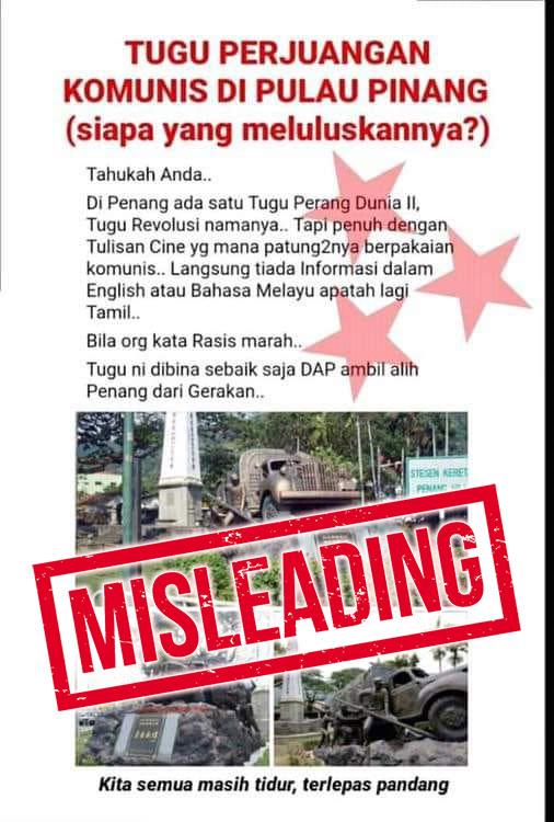 Penang Communist War Monument Hoax