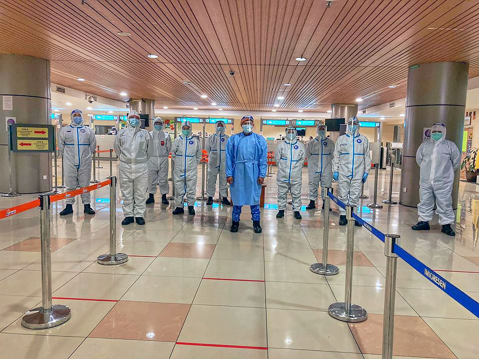 Civil Defence COVID-19 Team @ Kuching International Airport