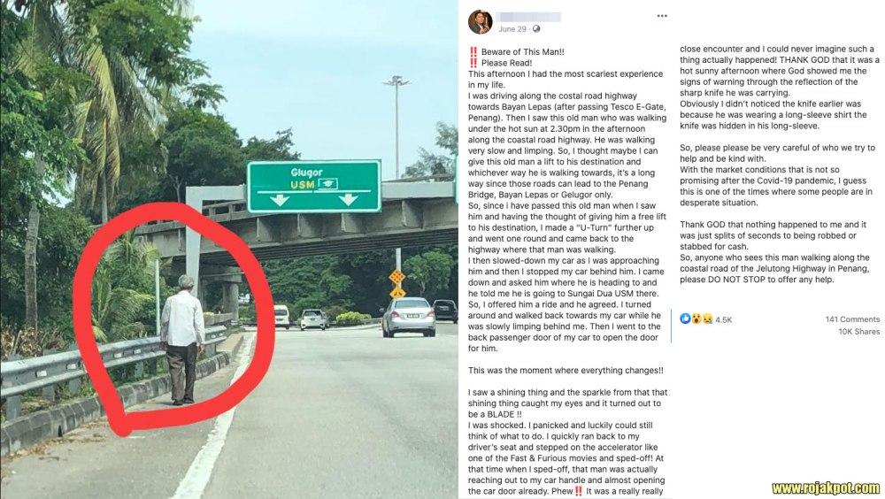 Walking robber in Penang hoax