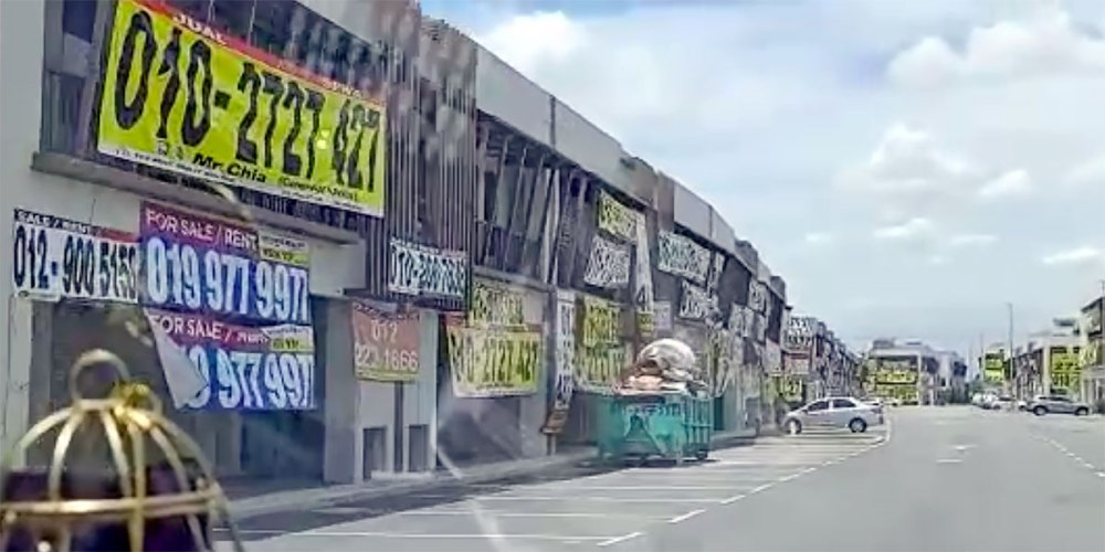 Empty Shops In Johor Bahru Because Of COVID-19?