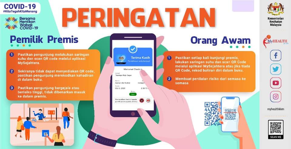 Malaysia COVID-19 Public Registration SOP