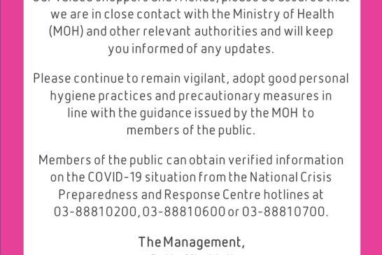 Setia City Mall COVID-19 statement 02