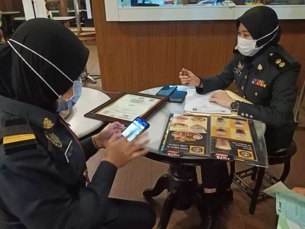 PKPDNHEP Selangor Old Town White Coffee inspection 01