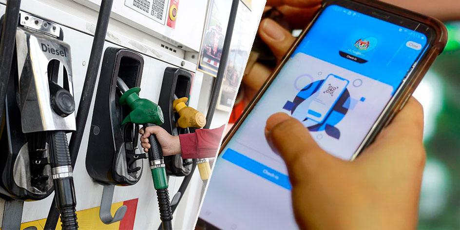 Scan MySejahtera At Petrol Station, Or Get RM1K Fine!