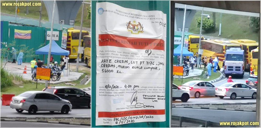 Arte Cheras : Closed After 162 Workers COVID-19 Positive!