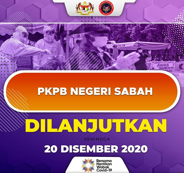 Sabah CMCO / PKPB Extended To 20 December 2020!