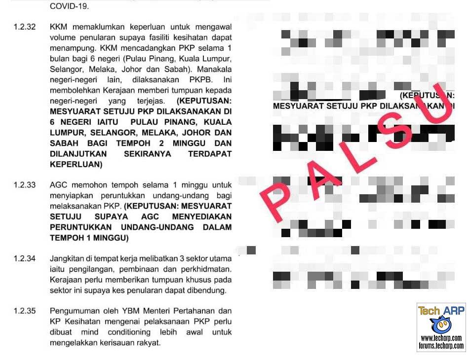 2021 MCO / PKP Lockdown : Leaked Document Is Not True!