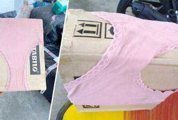 J&T Express Package Wrapped With Pink Underwear!