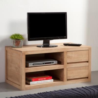 meuble tv armoire bas divertissement vegas 90 cm corps avant chene clair sonoma ameublement et decoration cuisine maison audio video