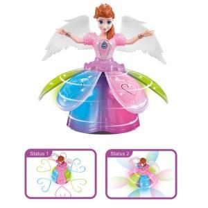Batteridriven dansande prinsessadocka med musik och ljus