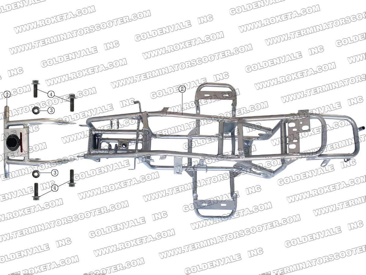 Roketa Atv 21a Frame Parts