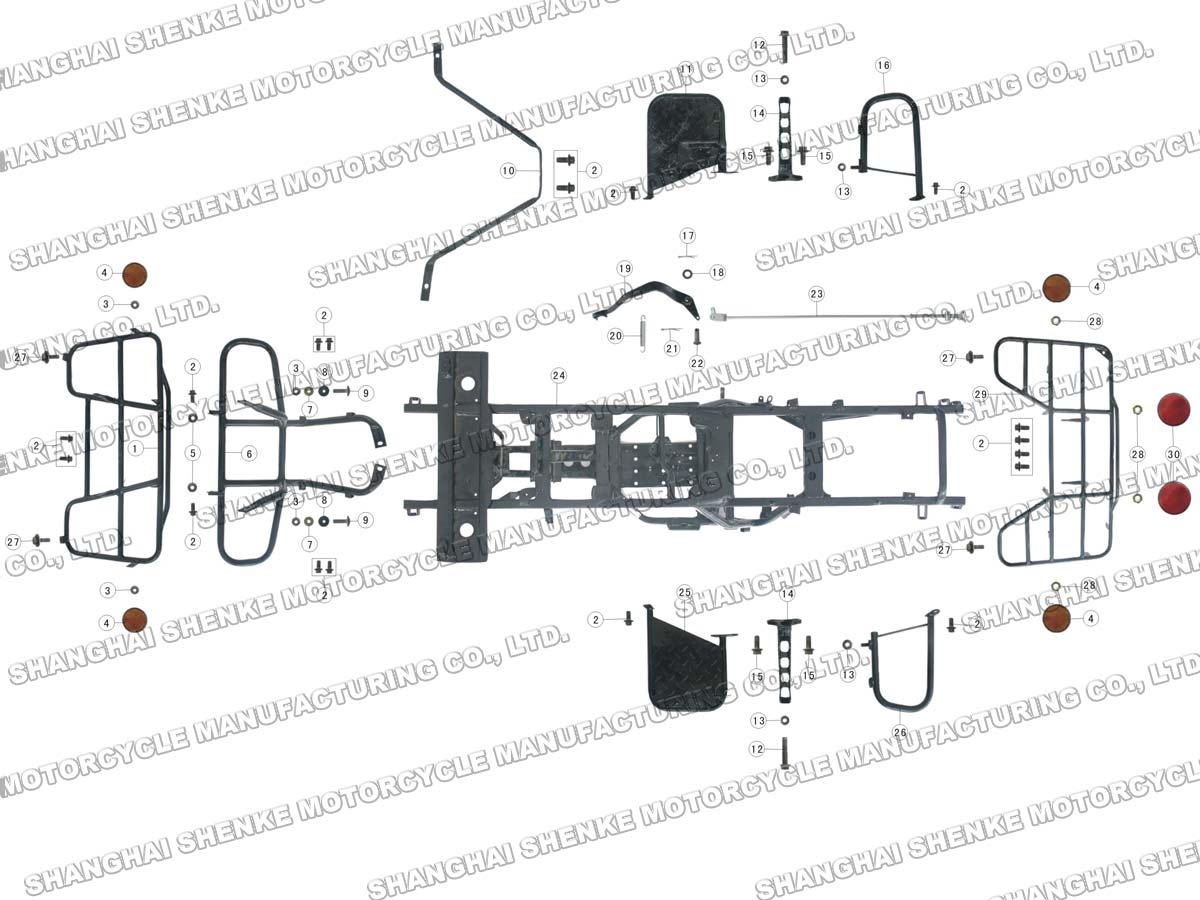 Roketa Atv 02 Frame Parts