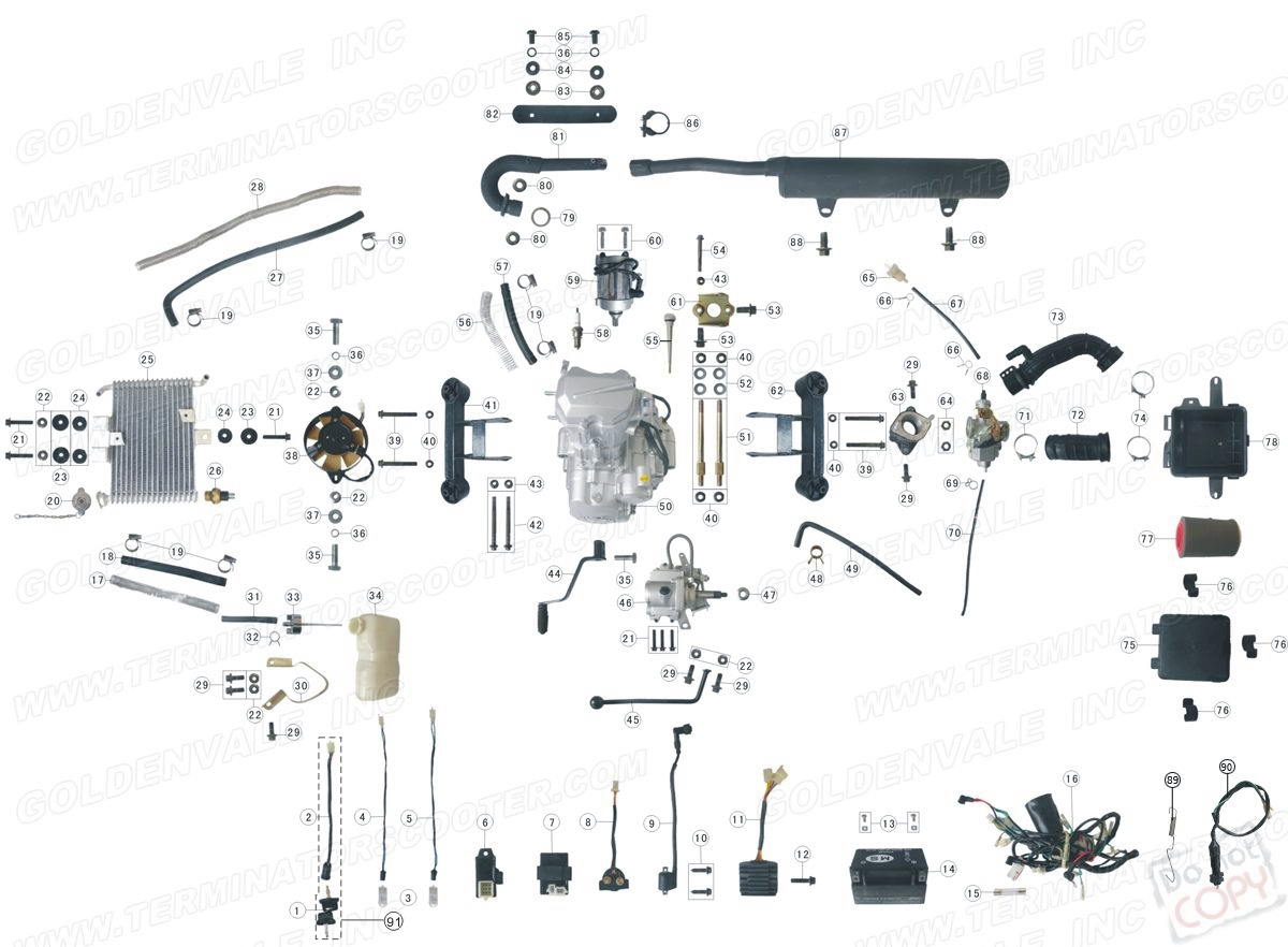 Chinese 90cc Atv Wiring Diagram