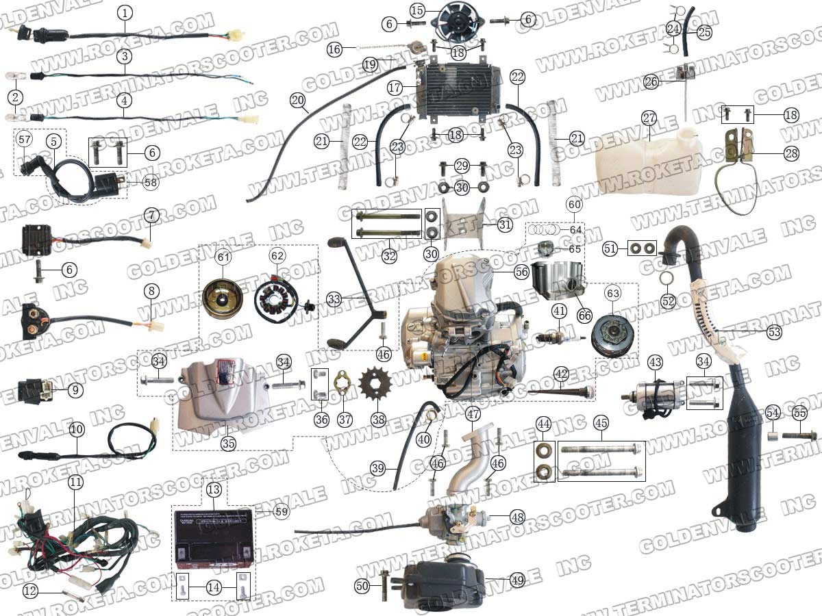 chinese 90cc wiring diagram chinese air conditioning