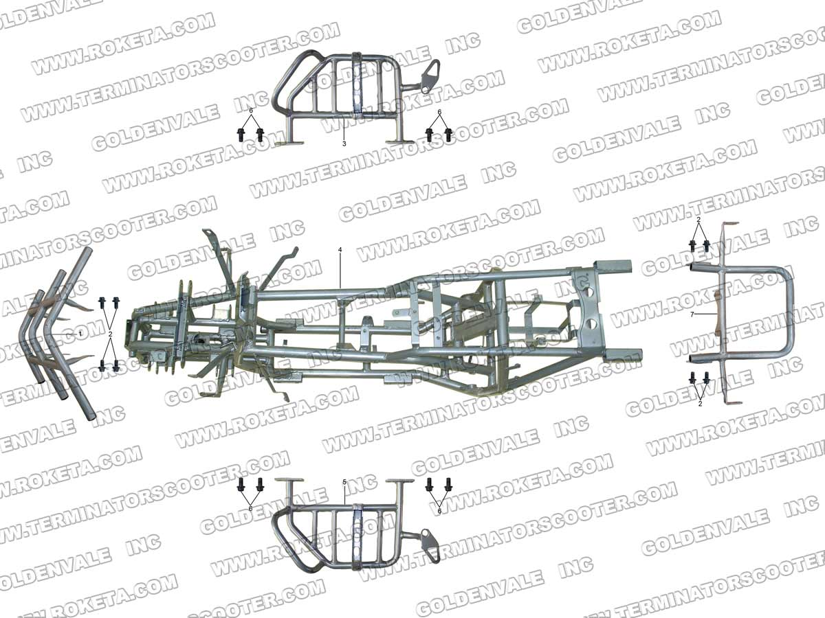 Roketa Atv 17ws Frame Parts