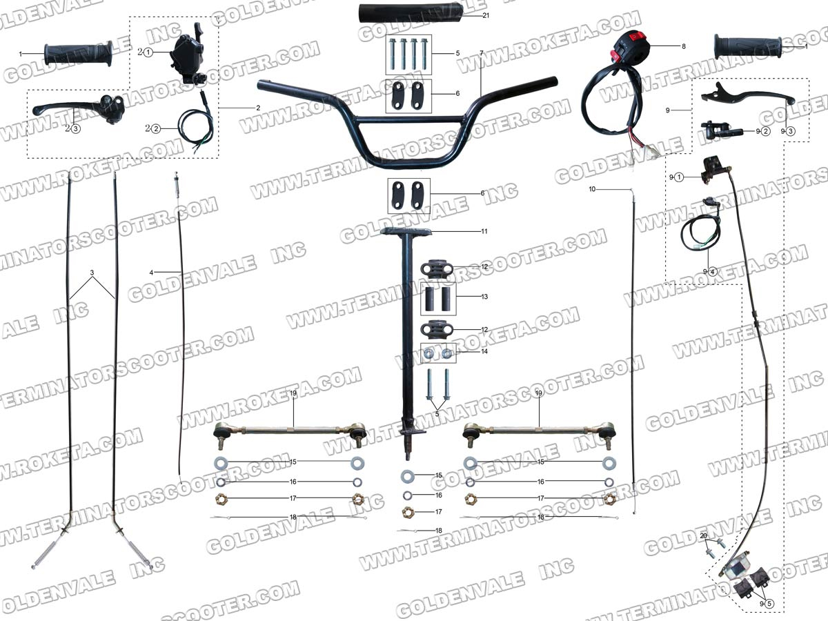 Coolster 125 Wiring Diagram on chinese pit bike parts