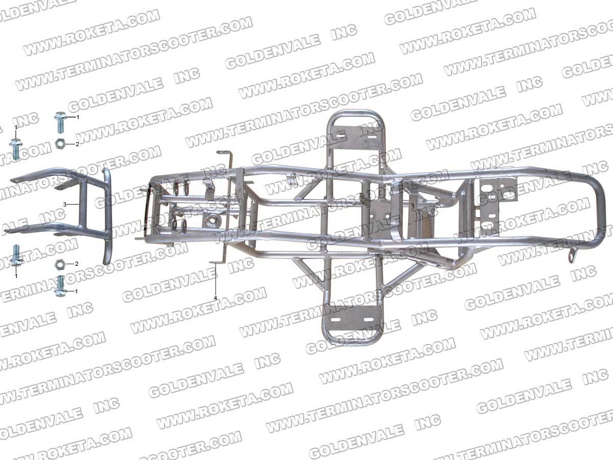 Roketa Atv 32 Frame Parts