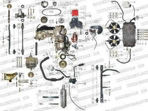 ROKETA GK13 ENGINE AND EXHAUST PARTS